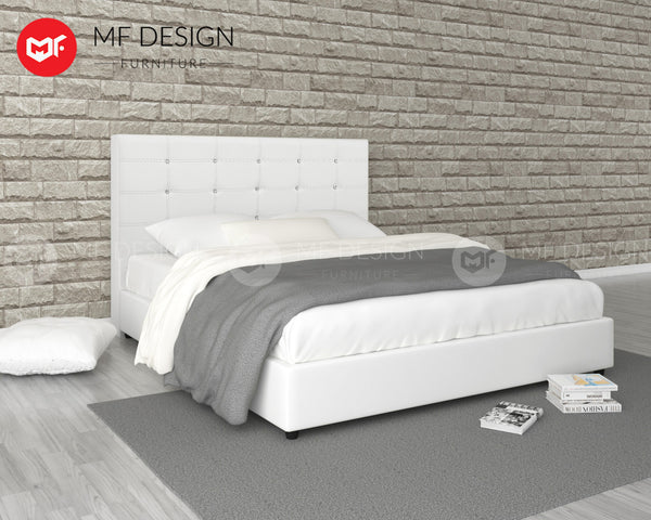 WHITE GRORIOUS QUEEN SIZE DIVAN BED