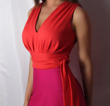 THAT DRESS~ TANGERINE AND FUSHIA