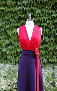 THAT DRESS~ RED AND EGGPLANT