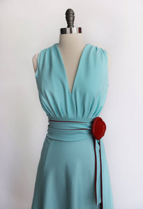 THAT DRESS ~SEAFOAM BLUE AND RED