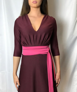 THAT DRESS~ WINE AND PINK