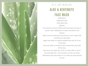 Easy Aloe & Bentonite Clay Mask Recipe