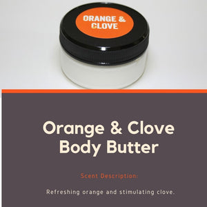 Orange and Clove Body Butter for dry skin