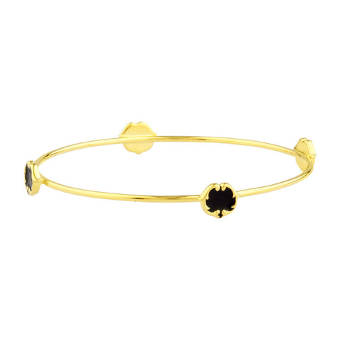 rosie sanders jewellery black enamel gold scroll stud bangle neoclassical couture