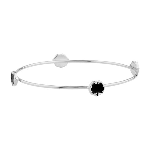 rosie sanders jewellery black enamel silver scroll stud bangle neoclassical couture