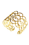 Rosie Sanders Jewellery Nautilus Sterling Silver 18ct. Gold Scroll Cuff Neoclassical Couture London Treasure IJL Scrolls
