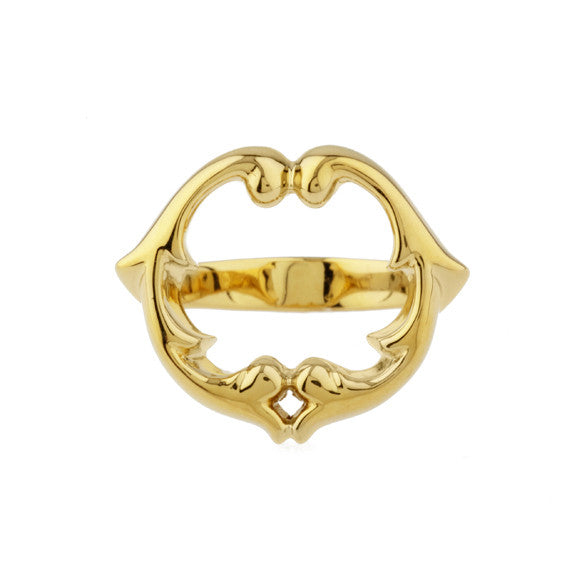 rosie sanders jewellery gold ladies scroll signet ring neoclassical couture renaissance rebel