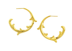 rosie sanders jewellery gold scroll hoop earring neoclassical couture renaissance rebel