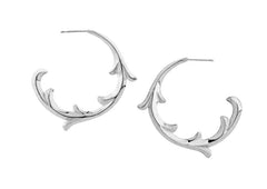 rosie sanders jewellery silver scroll hoop earring neoclassical couture renaissance rebel
