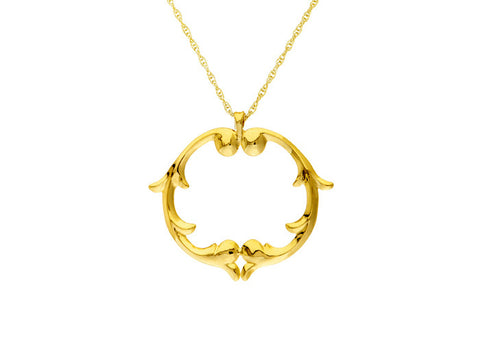 rosie sanders jewellery gold scroll medallion pendant necklace neoclassical couture renaissance rebel