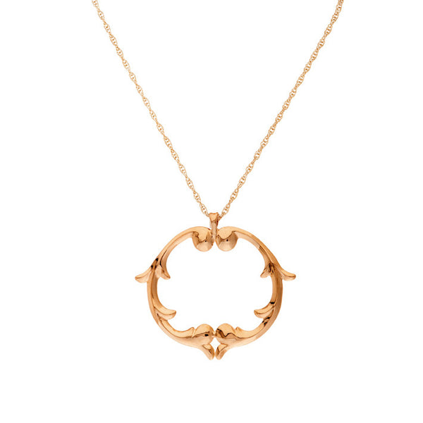 ROSIE SANDERS - NEOCLASSICAL COUTURE - RENAISSANCE REBEL II ROSE GOLD MEDALLION PENDANT