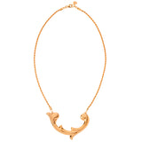 18CT. ROSE GOLD VERMEIL CARTOUCHE NECKLACE FROM THE RENAISSANCE REBEL COLLECTION BY ROSIE SANDERS
