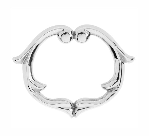 Rosie Sanders Sterling Silver Pompadour Statement Bangle from the Renaissance Rebel Collection, NeoClassical Couture, Jewellery, London