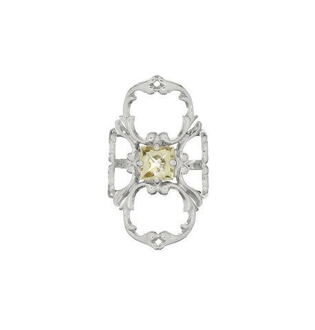 KALEIDOSCOPE WRAP RING - GREEN AMETHYST