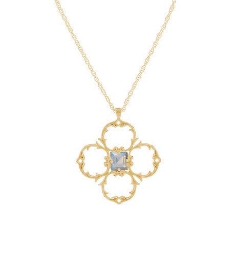 KALEIDOSCOPE STAR PENDANT - LIMITED EDITION BLUE MOONSTONE