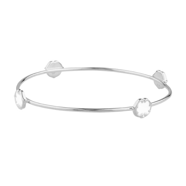 RENAISSANCE REBEL I SCROLL STUD BANGLE - PORCELAIN WHITE
