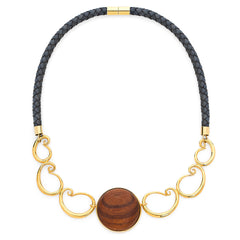 NAUTILUS CRESCENT MOON STATEMENT NECKLACE