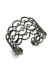 Rosie Sanders Jewellery Nautilus Sterling Silver 18ct. Black Rhodium Scroll Cuff Neoclassical Couture London Treasure IJL Scrolls