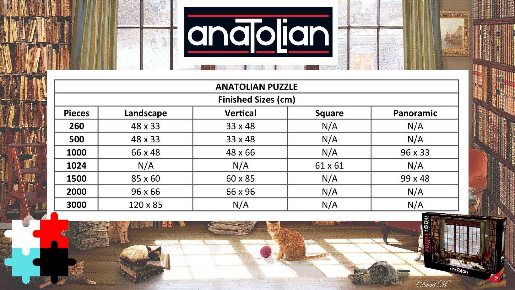 Anatolian Puzzle Size in Centimeters