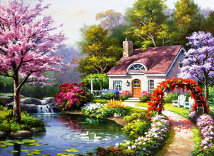 Spring Cottage In Full Bloom