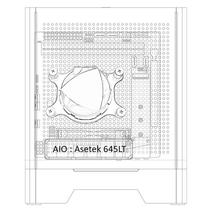 Borg configuration - AIO liquid cooling 92mm