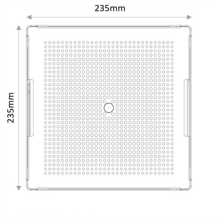 Borg - top view dimensions