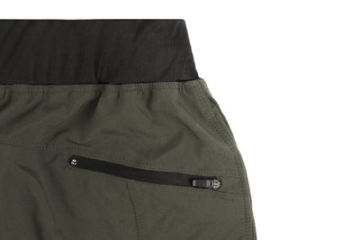 performance shorts with zipper