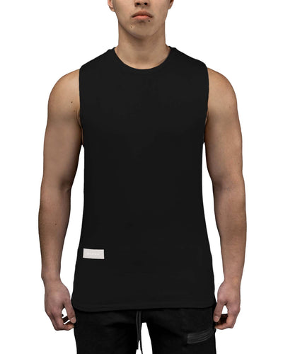 T-Shirt - Deep Cut Gym Tank - Black