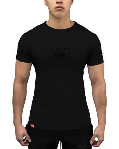 Alpha Flag Athleti-Fit Tee - Alpha Flag Athleti-Fit™ Tee - DRK