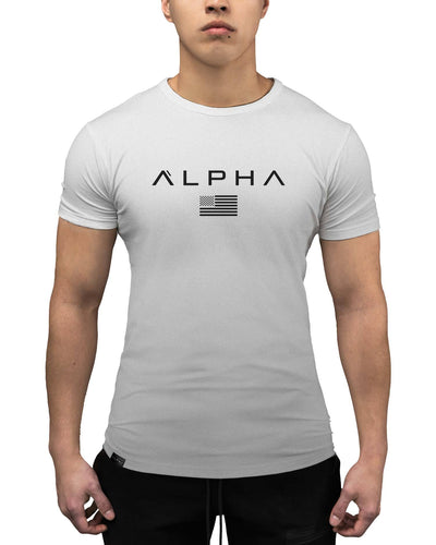 Alpha Flag Athleti-Fit Tee - Alpha Flag Athleti-Fit™ Tee - Grey/Black