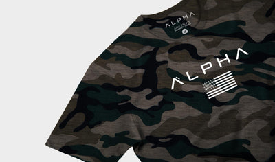 Alpha Flag Athleti-Fit™ Tee - Camo/White