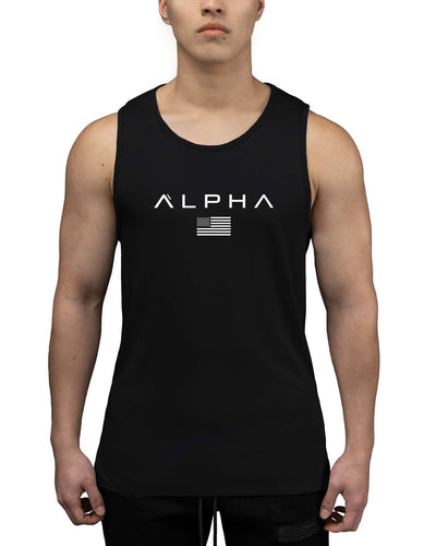 Alpha Flag Athleti-Fit Tank - Alpha Flag Athleti-Fit™ Tank - Black/White