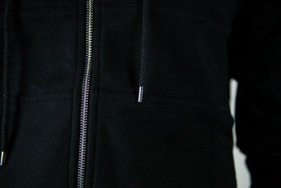 Alpha Zip-up Jacket - black - details