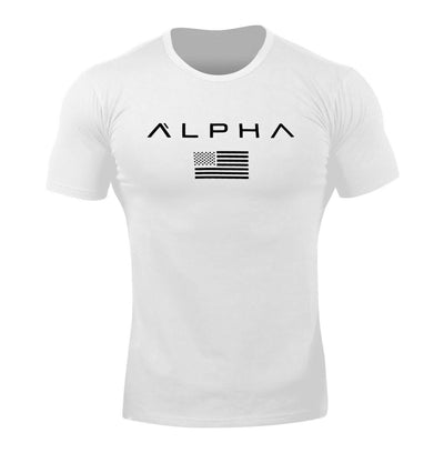 Alpha Flag Athleti-Fit™ Tee - White/Black
