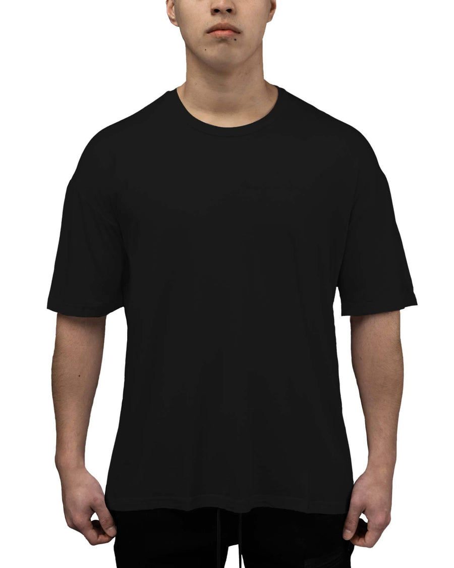 Bamboo Oversized Tee - Black