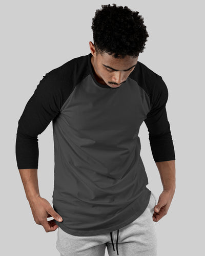 Raglan Athleti-Fit™ - Stamped - Charcoal Base