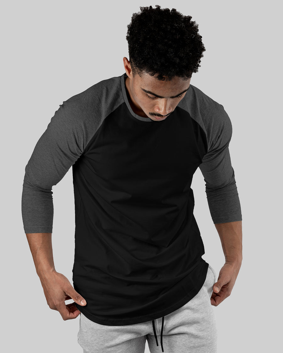 Raglan Athleti-Fit™ - Stamped - Black Base