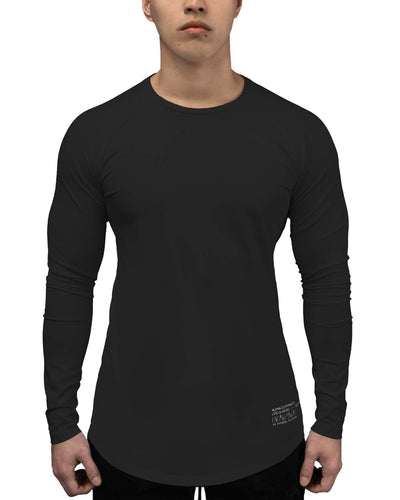 T-Shirt - LS Athleti-Fit™ - Stamped - Black/White