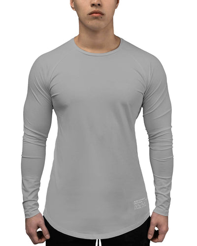 T-Shirt - LS Athleti-Fit™ - Stamped - Heather Grey