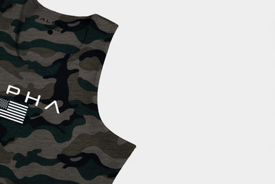 Alpha Flag Athleti-Fit™ Tank - Camo/White