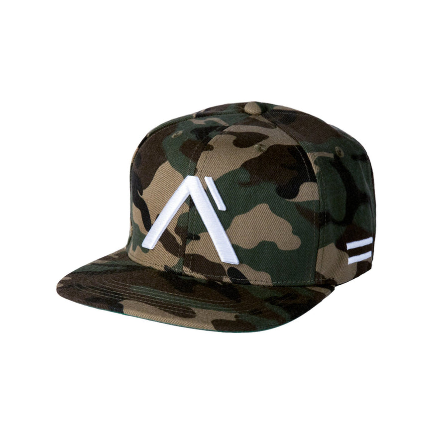"Alpha Clothing ""Level"" Snapback Hat - Camo/White"