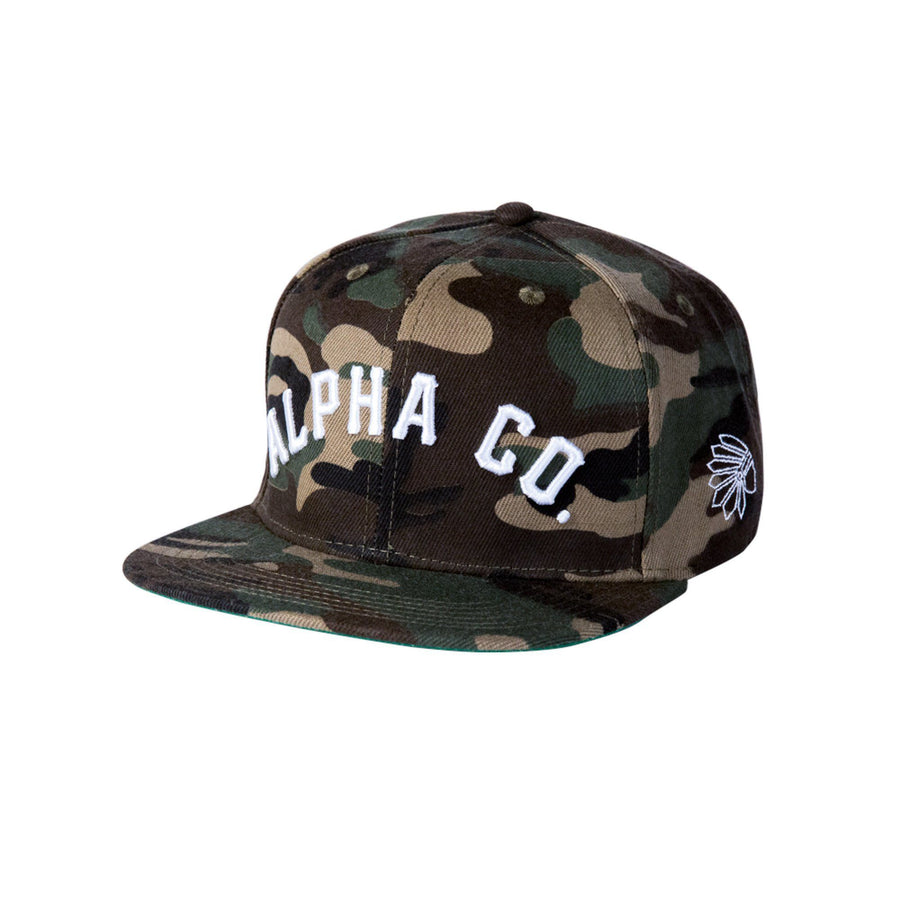 Alpha Clothing Tribe Snapback - Camo/White