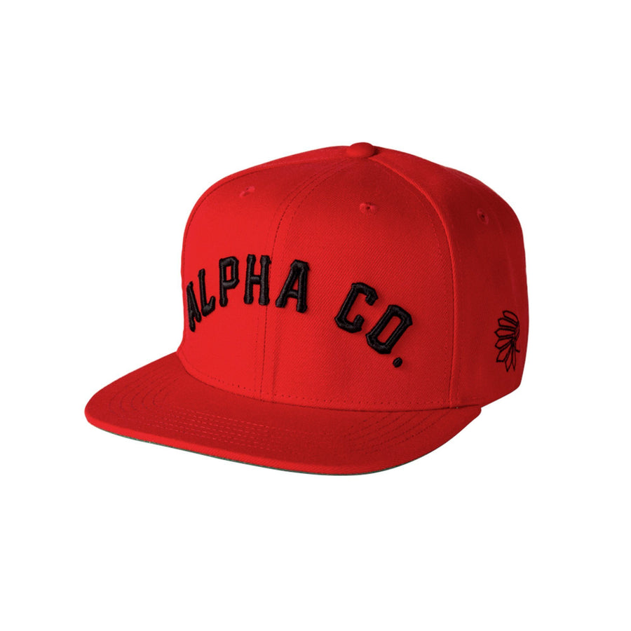 Alpha Clothing Tribe Snapback - Red/Black