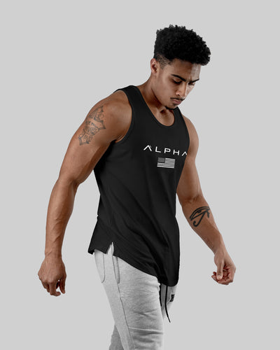 Alpha Flag Athleti-Fit™ Tank - Black/White