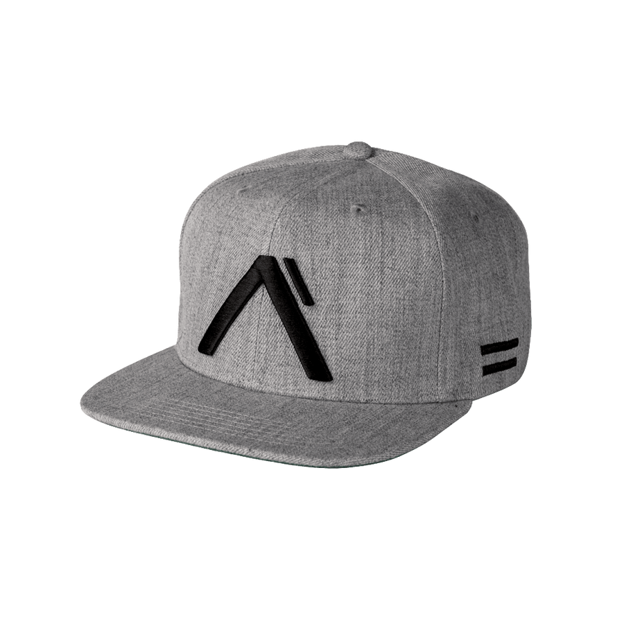 "Alpha Clothing ""Level"" Snapback Hat - Grey/Black"