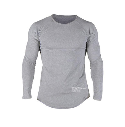 LS Athleti-Fit™ - Stamped - Heather Grey