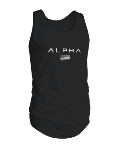 Alpha Clothing Black Flag Athleti-fit Tank Top