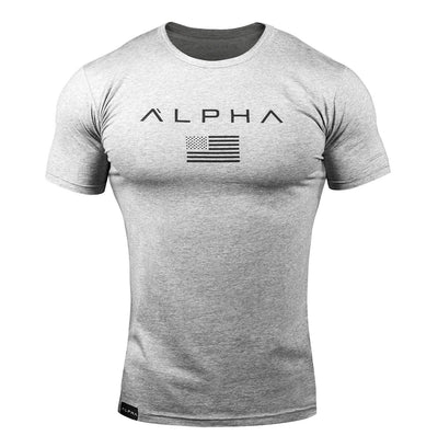 Alpha Flag Athleti-Fit™ Tee - Grey/Black