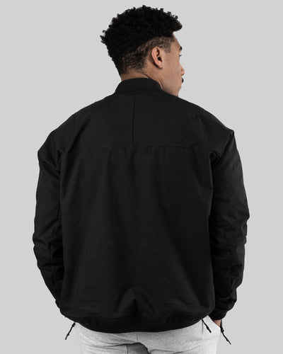 Tech Zip Fitted Performance Bomber - Black