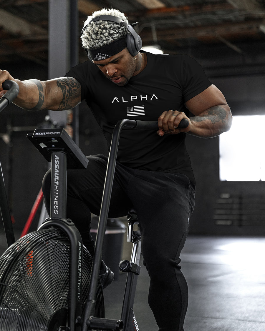 Alpha Flag Athleti-Fit™ Tee - Black/White